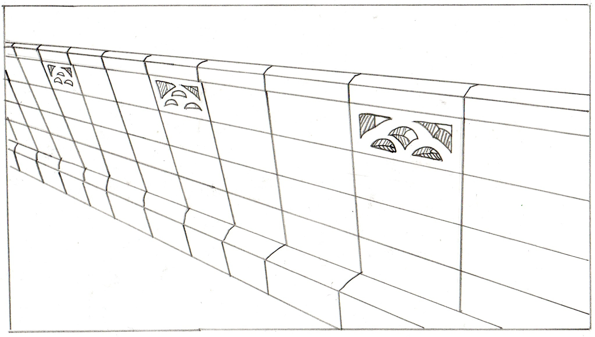 ブロック塀の外壁