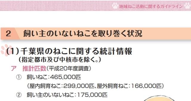 千葉県の野良猫の数