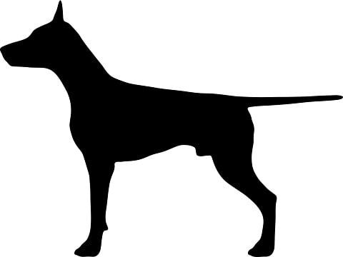 犬のシルエット画像