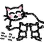 母乳を与える猫の画像
